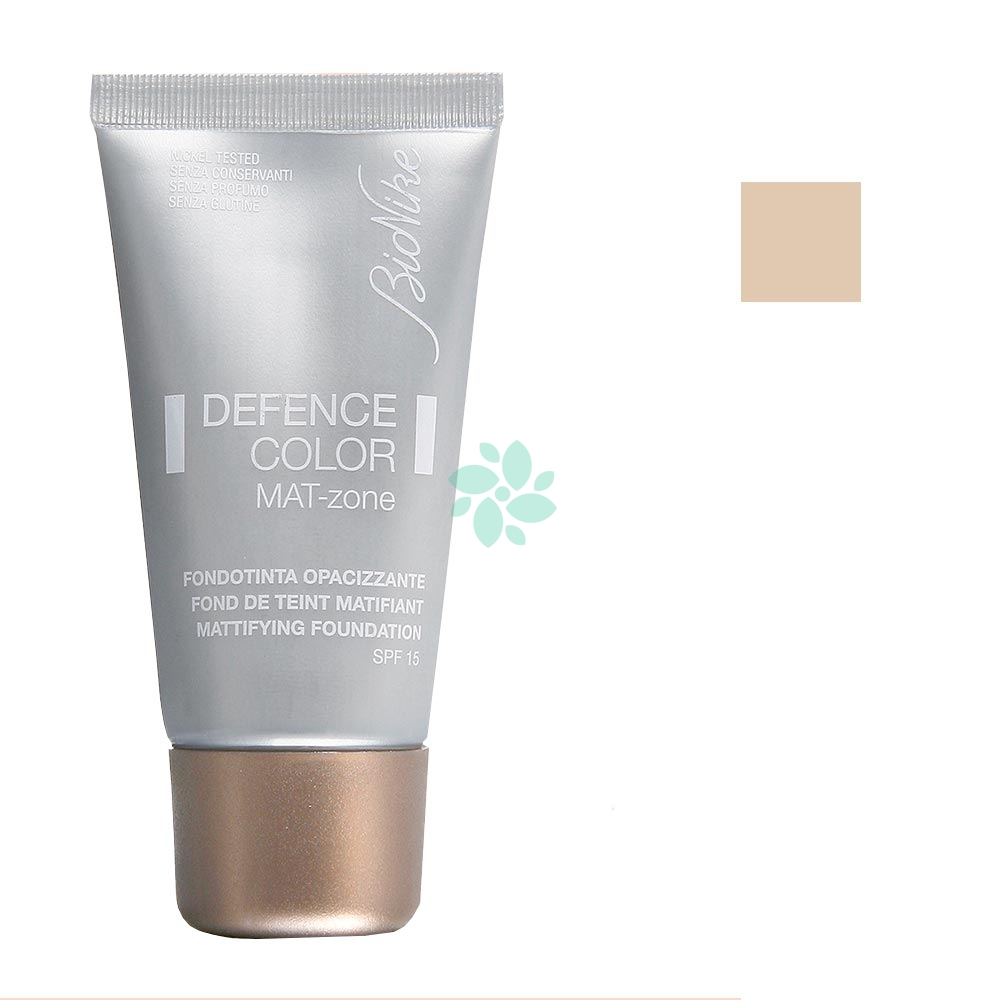 Bionike Defence Color - Mat-Zone Fondotinta Opacizzante SPF15 N.402 Sable, 30ml