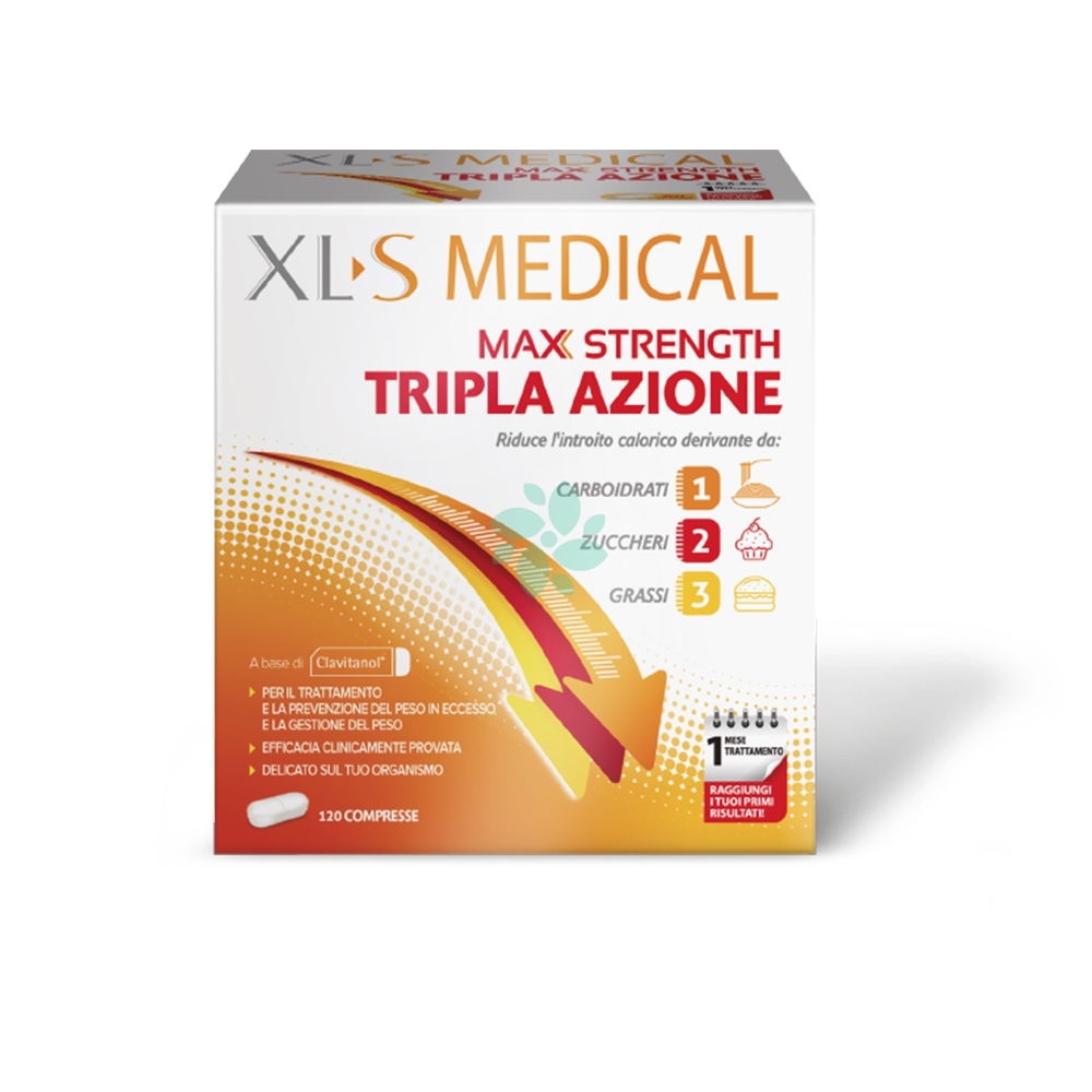 Xls Medical Max Strength Integratore Alimentare, 120 Compresse
