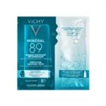 Vichy Minéral 89 Maschera in tessuto con Acido Ialuronico Rimpolpante e Levigante, 29 g