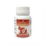 Budetta Pharma Thotale - Vitamina D Integratore Alimentare, 60 Compresse