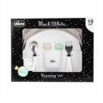 Chicco Set Pappa Limited Edition Black&White 18M+ Pianeti, 1 Kit