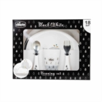 Chicco Set Pappa Limited Edition Black&White 18M+ Balene, 1 Kit