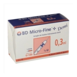 Becton Dickinson Micro Fine Demi Siringa Per Insulina 0 3 ml Ago 8 mm 30 Pezzi