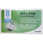 Roche Diagnostics Ago Accu fine G31 8mm 100 pezzi