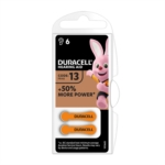 Duracell Hearing Aid 13 1.45 V Zinc Air 6 Batterie