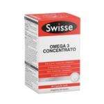 Swisse Cuore e Colesterolo - Omega 3 Concentrato Integratore, 60 Capsule