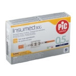 Pic Siringa Per Insulina Insumed 0.5 ml G30x8mm 30 Pezzi