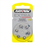RAYOVAC Extra Advanced Batterie Zinco Aria Modello 10 Digital Superior 6 Pezzi
