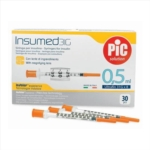 Artsana Pic Insumed Siringa Per Insulina 0 5 ml 31G x 8 mm 30 Pezzi