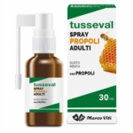 Tusseval Spray Con Propoli Per Adulti Gusto Menta 30 ml