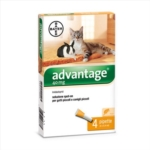 Bayer Advantage 40mg Spot-On Gatti Piccoli Conigli Piccoli 4 Pipette Da 0,4 ml
