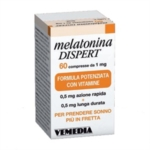 Vemedia Pharma Melatonina Dispert Integratore Alimentare 60 Compresse 1 mg
