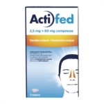 Actifed 2,5 Mg + 60 Mg Compresse 12 Compresse