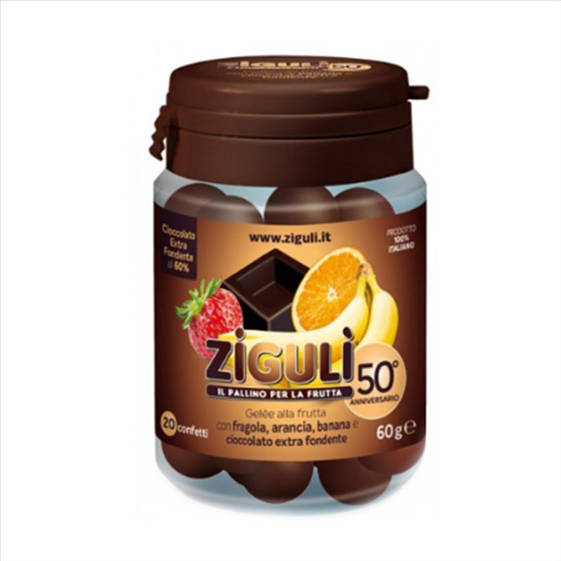 Zigulì Gelèe Fragola Arancia Banana Cioccolato Fondente 20Confetti SCAD 08/20