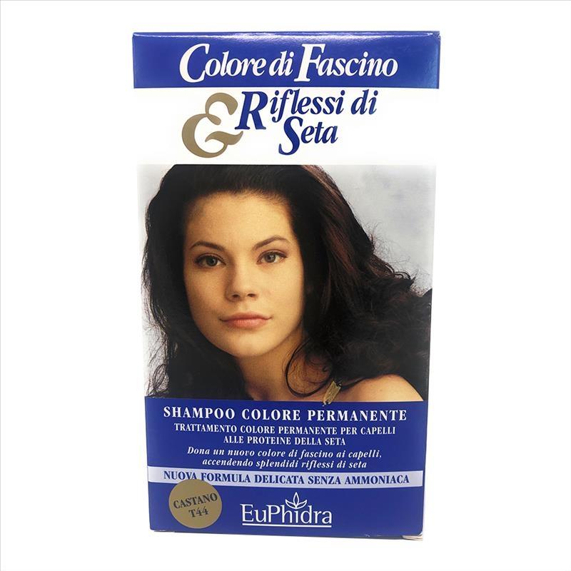 Euphidra Shampoo Colore Permanente 44 Castano, 120ml