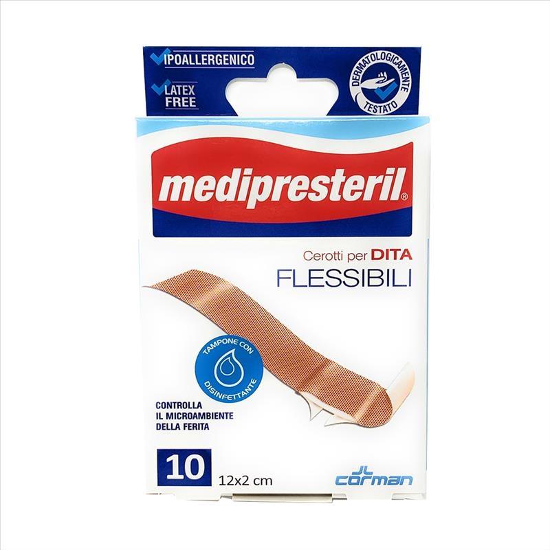 Medipresteril Cerotti Per Dita Flessibile E Resistente, 10 Pezzi 12 x 2 cm