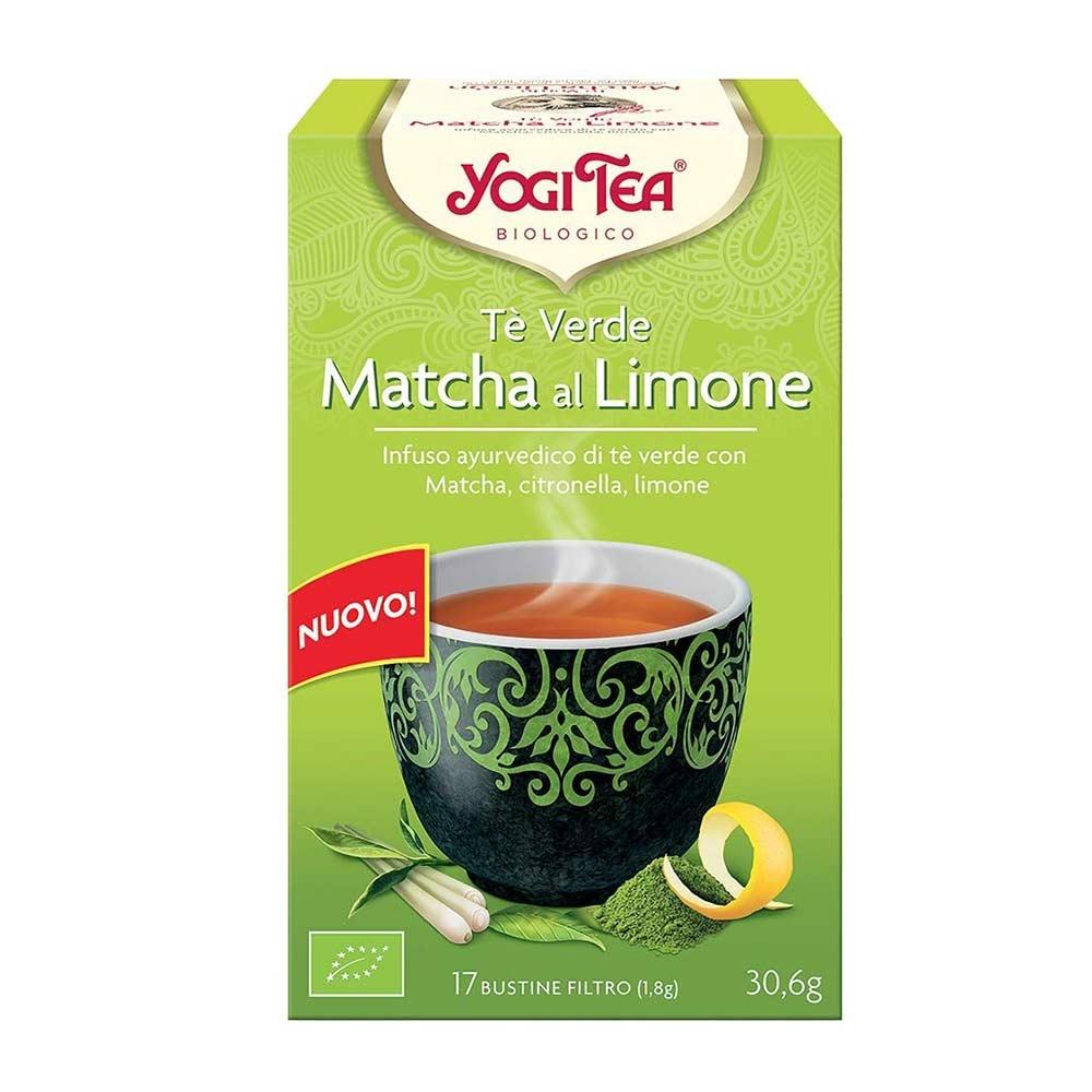 Yogi Tea Tè Verde Macha Limone Infuso Ayurvedico, 17 Bustine