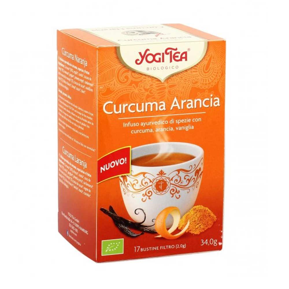 Yogi Tea Curcuma Arancia Infuso Ayurvedico, 17 Bustine