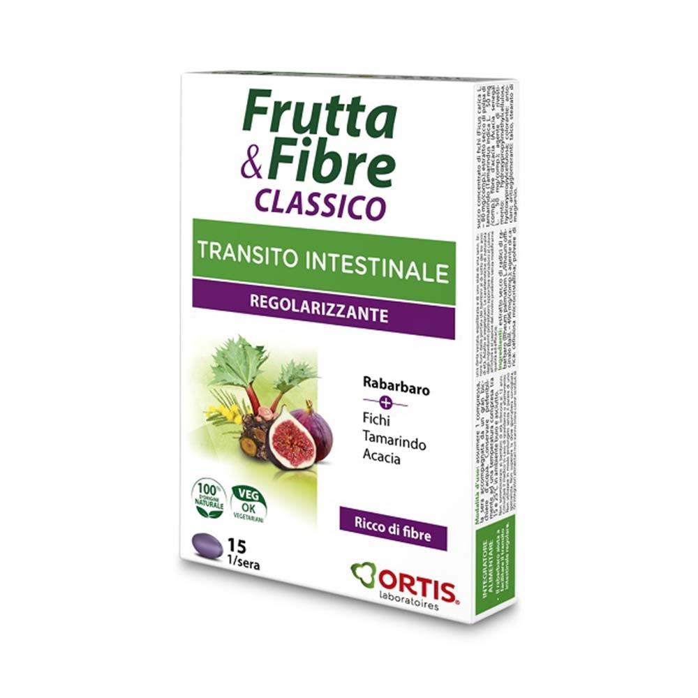 Ortis Frutta & Fibre Transito Intestinale Regolarizzante, 15 Compresse