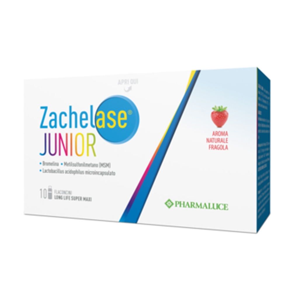Pharmaluce Zachelase Junior Integratore Alimentare, 10 Flaconcini Da 10ml