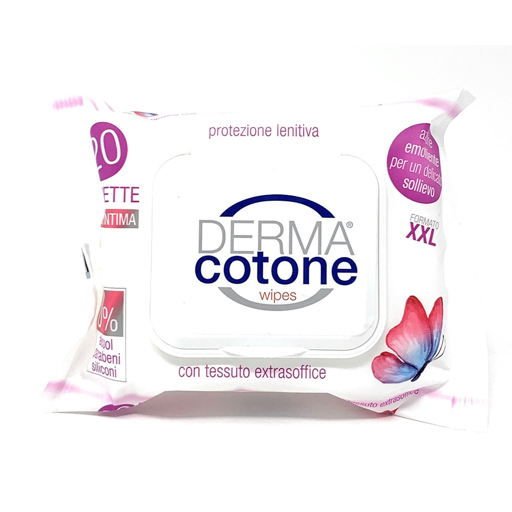 Dermacotone Wipes - Salviettine Intime Lenitive, 20 Salviettine