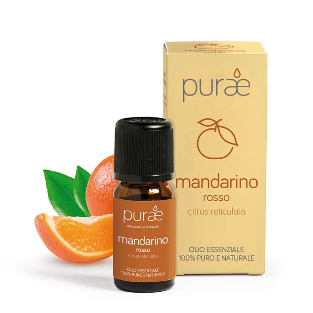 Purae Olio Essenziale Mandarino rosso ? buccia ? 100% Puro e Naturale, 10ml