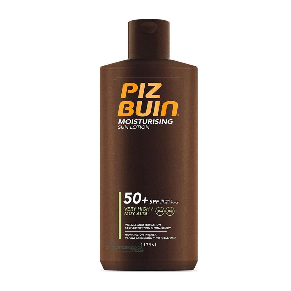 Piz Buin Moisturising - Latte Solare Fluido Corpo SPF50+ Molto Alta, 200ml