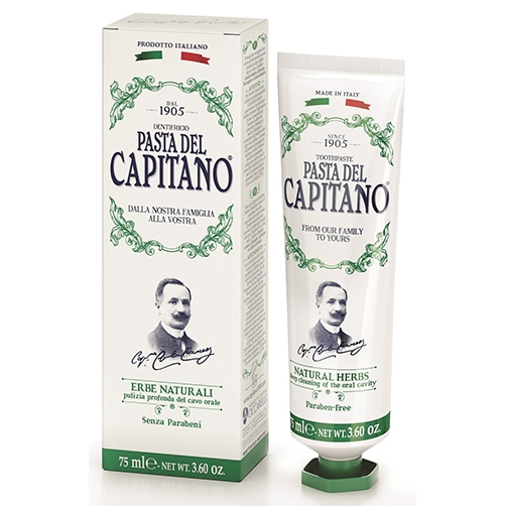 Ciccarelli Pasta Del Capitano Dentifricio Erbe Naturali Pulizia Profonda 75ml offerta