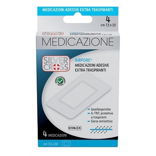 Silver Cross Airpore Medicazioni Adesive Extra Traspiranti 7,5 X 10 cm 4 Pezzi