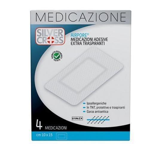 Silver Cross Airpore Medicazioni Extra Traspiranti 10 X 15 cm 4 Pezzi