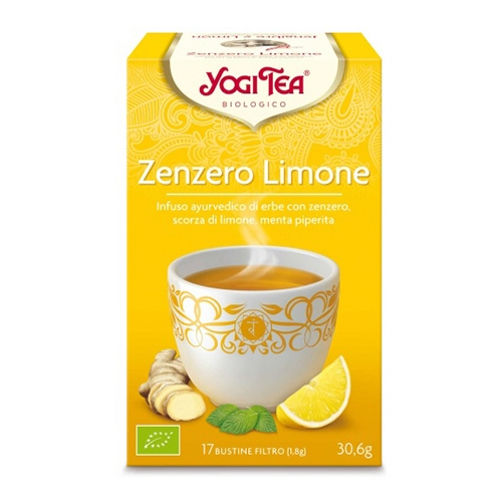 Yogi Tea Zenzero E Limone  Infuso Ayurvedico Di Erbe 17 Bustine
