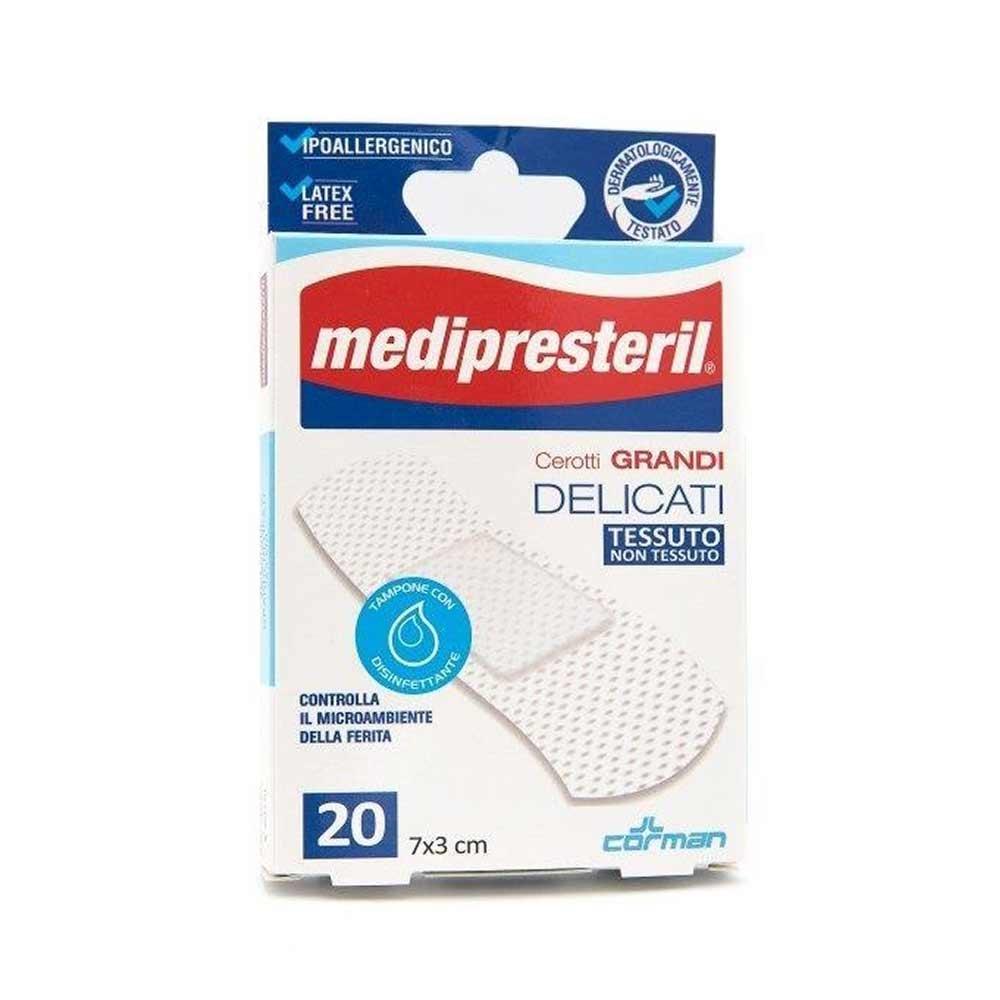 Medipresteril Cerotti Grandi Delicati Tessuto Non Tessuto 7x 3cm 20Pezzi
