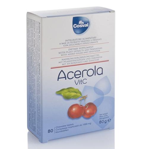 Cosval Acerola Vit C Integratore Alimentare 80 Compresse Masticabili