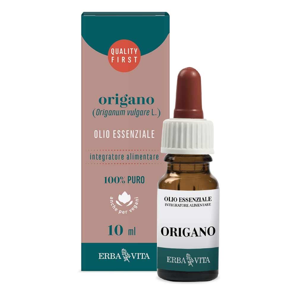 Erba Vita Olio Essenziale Di Origano Integratore Funzione Gastrointestinale 10ml