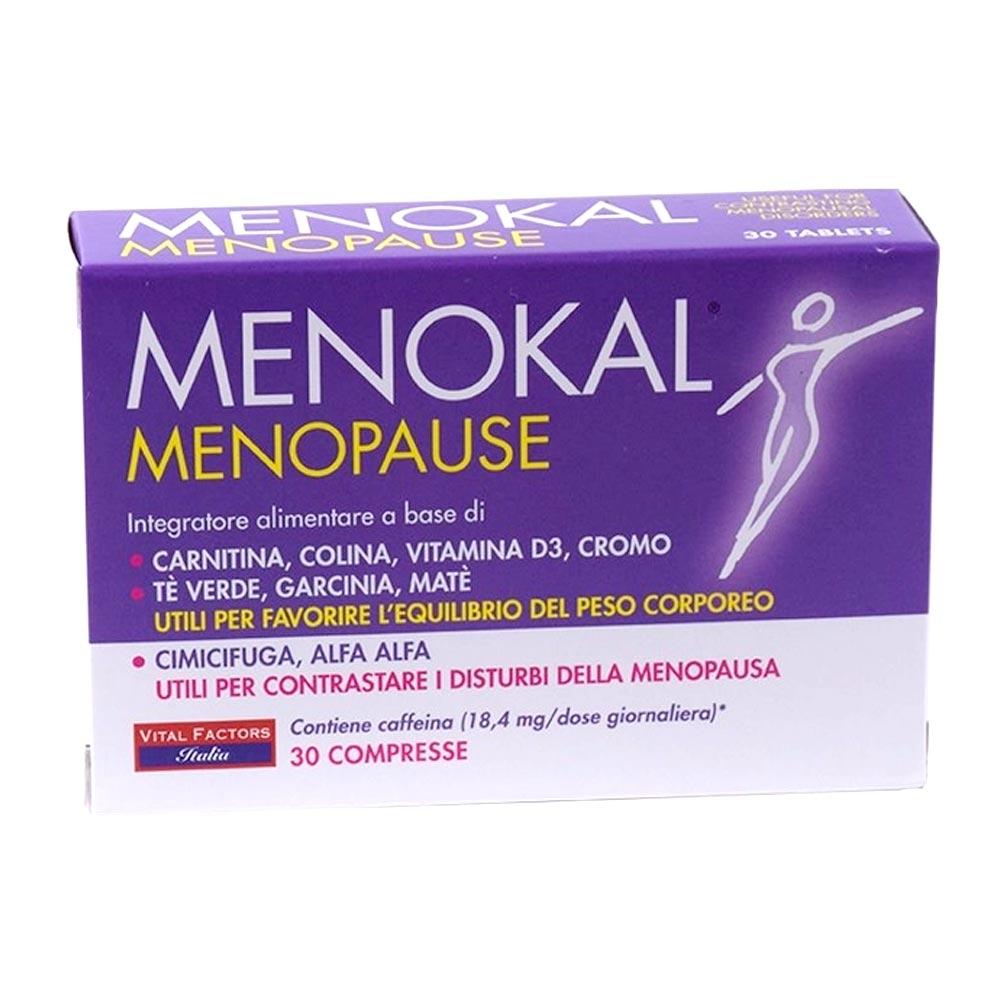 Vital Factors Menokal Menopause Integratore Disturbi Menopausa 30 Compresse