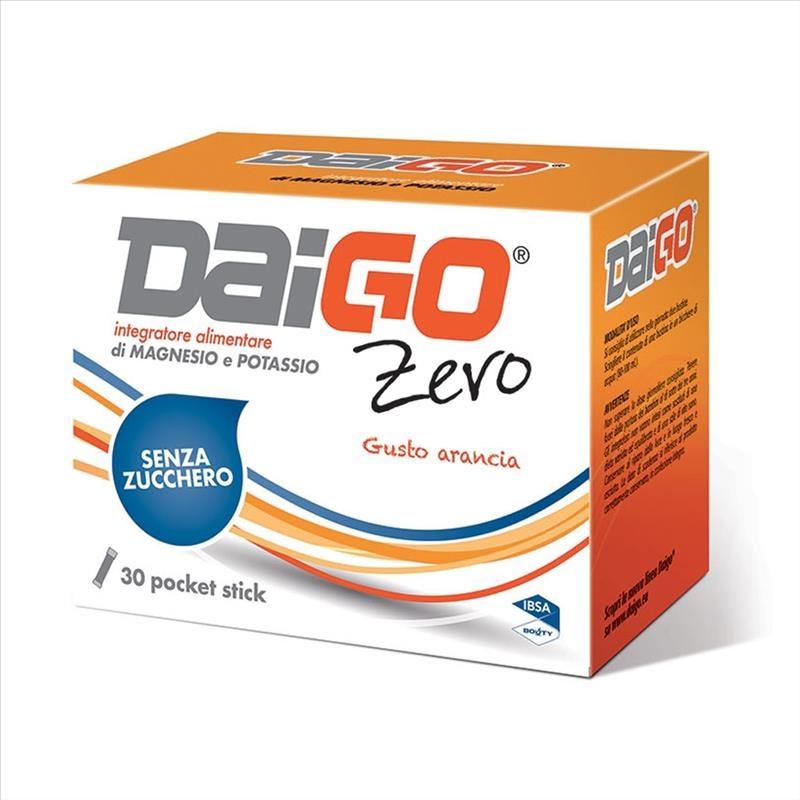 Bouty DaiGo Zero Integratore Di Magnesio E Potassio Gusto Arancia, 30 stick