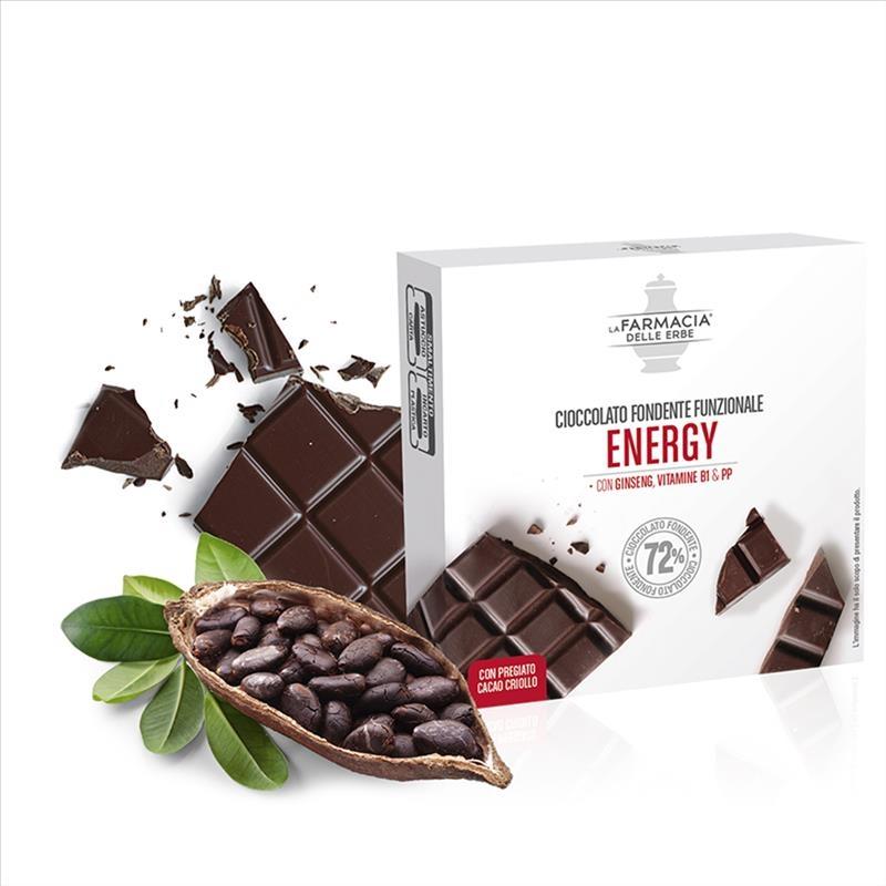 La Farmacia Delle Erbe Energia Cioccolato Fondente Funzionale 30 g