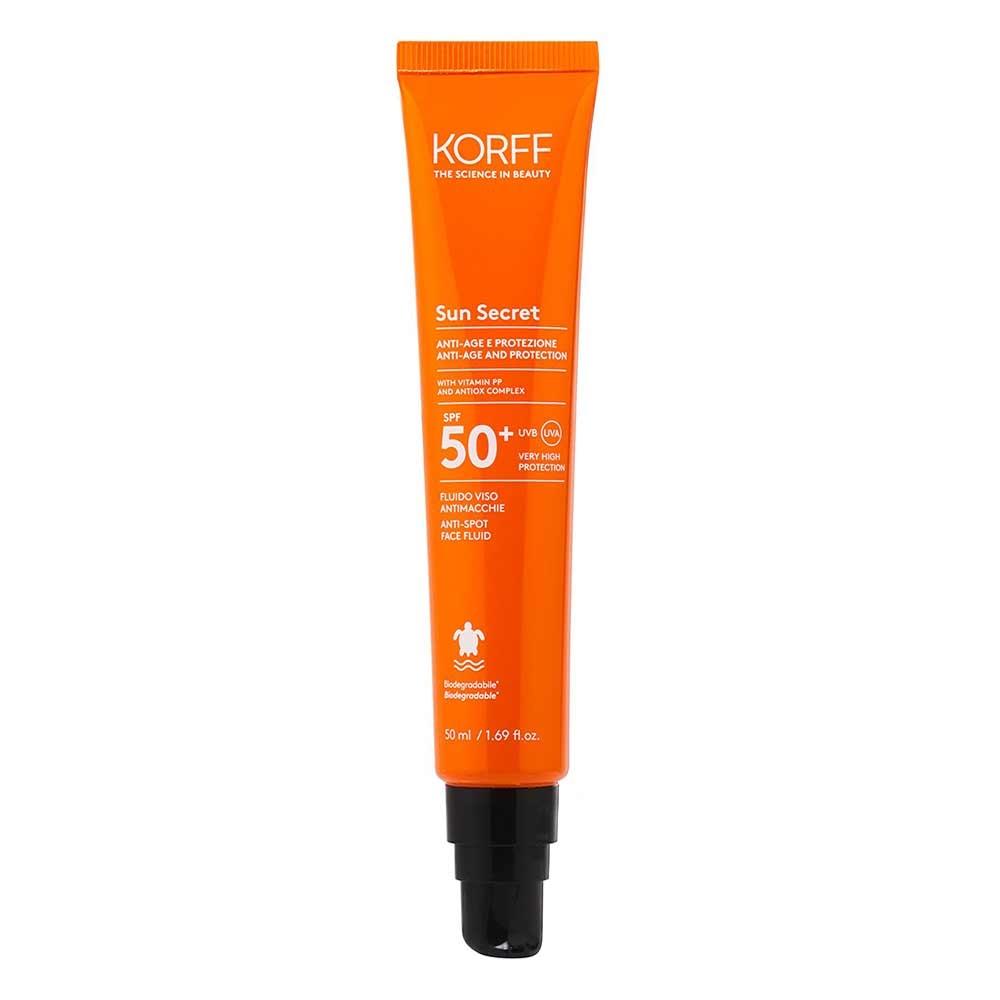 Korff Sun Secret - Fluido Viso Antimacchie SPF50+, 50ml