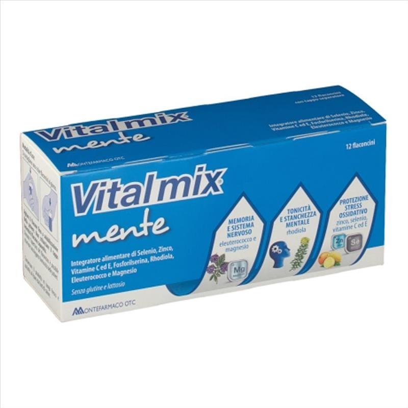 Vitalmix Mente Integratore Alimentare, 12 Flaconcini