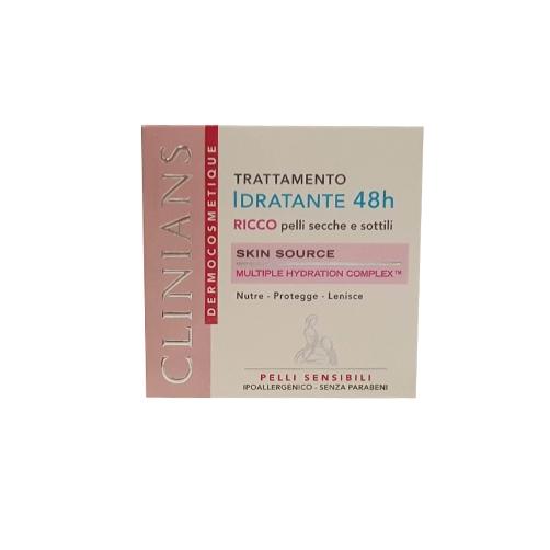 Clinians Trattamento Idratante 48h Ricco Pelli Secche E Sottili 50 ml